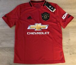 Adidas Manchester United Dw4138 Youth Home Soccer Jersey - Red - Size Large
