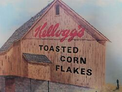 Kellogg's Toasted Corn Flakes Cereal Framed Advertisement Print On Board