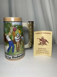 1992 Par For The Course Budweiser Hand Crafted Beer Stein