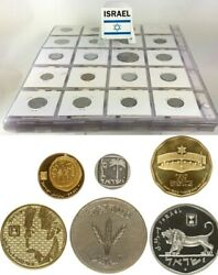 Israel 1949-2008 With 87 Different Coins All In High Grades Including Scarcer
