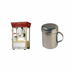 Great Northern Popcorn Machine Winware Stainless Steel Dredges 10 Oz Red Matinee
