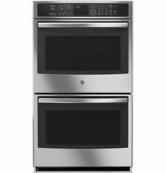 Ge Profile Series 30 Built-in Double Convection Wall Oven Stainless Pt9550sfss
