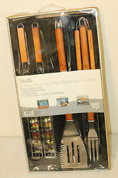Mr Bar B Q Premium 5 Piece Stainless Steel Barbecue Tool Set - Grill Bbq