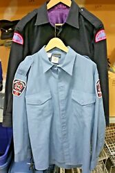 George Fire Fighter Shirts W/ Patches X2 Wool And Nomex