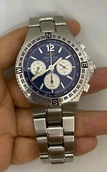 Breitling Hercules Blue Dial Men's Watch Stainless Steel A39363 No Box No Pa