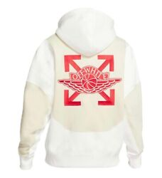 Off White X Nike Jordan White Hoodie New Size Small 100 Authentic Ships Asap