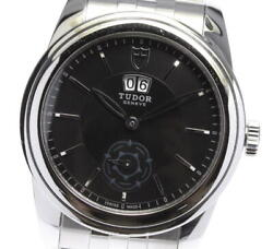 Tudor Glamor 57000 Cal.2892a2 Double Date Automatic Menand039s Watch Ss Small Second