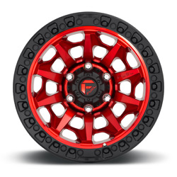 17x9 Fuel D695 Covert Red Wheels Rim 33 Mt Tires Package Jeep Gladiator Jt Tpms
