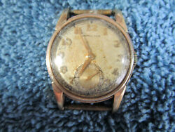 Hamilton 10k Gold Filled Watch Small Second Hand Windup Vintage 160-7q