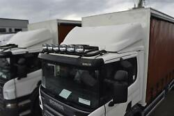 Roof Bar + Led + Spots + Beacons + Air Horns For Scania 4 Series Low Day - Black