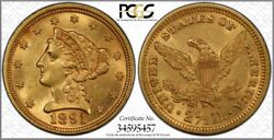 1891 Liberty Eagle 2.50 Pcgs Ms62 Ddr Fs-801 Doubled Die Reverse 10,960 Minted