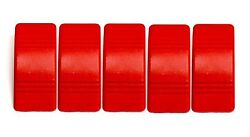 Euro Rocker Red Switch Cover With No Lens. 5 Pack Fits Carling Technologies...