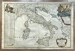 Italy Ecclesiastic 1691 Giacomo De Rossi Very Large Rare Antique Map Double Page