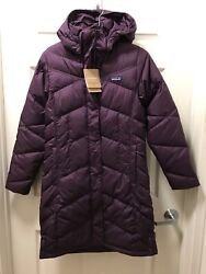 299 Nwt Womenand039s Down With It Parka Small Deep Plum