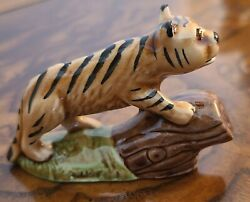 Rare Wade Around The World Bengal Tiger Whimsies Red Rose Tea - Set 4 2007 Mint