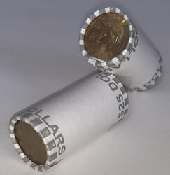 2 Unsearched Dollar Coin Rolls Fed Sealed Machine Rolled 50 Fv