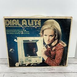 Vintage 1970 Lighted Make Up Light Vanity Mirror Dial A Lite By Monaco Rare