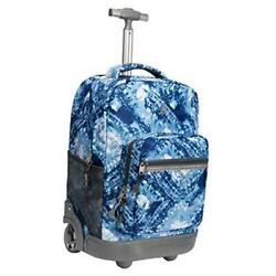 18 inches Wheeled Rolling Backpack for Boys and Girls School Student Blue $98.37