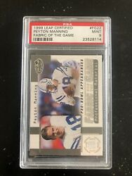 1999 Leaf Certified Peyton Manning Fabric Of The Game Mint 9