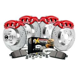 For Ford F-150 04 Brake Kit Power Stop 1-click Extreme Z36 Truck And Tow Drilled And