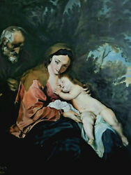 Klaus Straubinger 1939 - - Copy After Van Dyck, Mary And Josef With Jesus