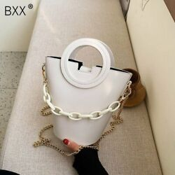 Leather Crossbody Bucket Bags For Women 2020 Spring Fashion Shoulder $46.75