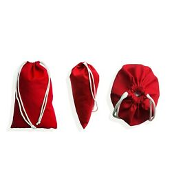 Red Poly - Cotton Bags, Reusable Produce Bags, Single Drawstring – Lot