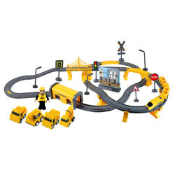 66/92 Pcs Multi-style Diy Assembly Track Train Increase Parent-child