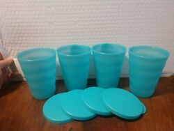 New Tupperware Impressions 11oz Tumblers With Liquid-tight Seals Free Us Ship