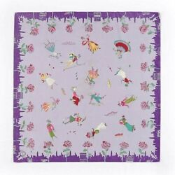 Emilio Pucci C.1955 'emilio For Lord And Taylor' Novelty Figure Print Silk Scarf