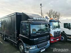 Roof Bar + Spots + Air Horns + Beacons For Daf Cf Low Pre 2014 Truck Stainless