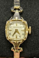 Bulova Vintage Womens Rolled Gold Wrist Watch L7 Manual Wind Up RGP Working