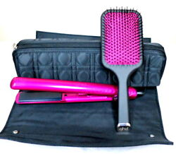 Ghd Pink Diamond 1 Flat Iron Styler With Paddle Brush And Rollbag