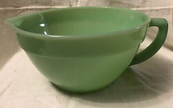 Vintage Fire King Oven Ware Jadeite Batter Mixing Bowl With Handle And Spout