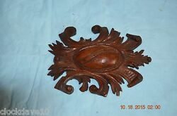 Vintage Wood Ornament For Grandfather Clock For Project Or Parts