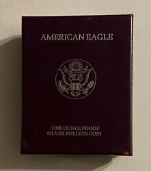 1991-s Proof Silver Eagle Box And Coa L@@k At Pictures