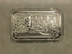 Greathouse Silver Bar No Place Like Home For Holidays Rare Mintage 20 Cancelled