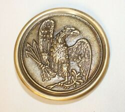 Antique Style Eagle Military Civil War Us Army Belt Buckle Plate Solid Brass