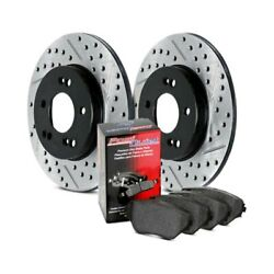 For Scion Tc 05-10 Stoptech Street Drilled And Slotted 1-piece Rear Brake Kit