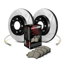 For Dodge Dart 13-15 Stoptech 987.63018f Sport Slotted 1-piece Front Brake Kit