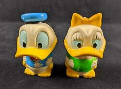 Vintage Disney Donald And Daisy Duck Rubber Bobbleheads By Ideal Toys
