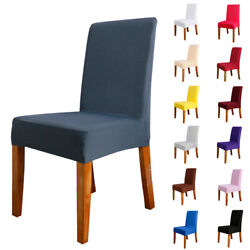 1/4/6/8/20 Pcs Solid Spandex Stretch Banquet Chair Seat Cover Home Party Decor