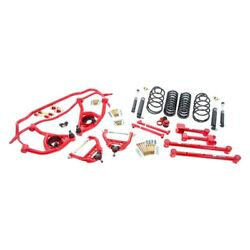 For Chevy Malibu 65-66 1 X 1 Stage 2 Front And Rear Handling Lowering Kit