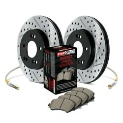 For Dodge Dart 13-15 Stoptech Sport Drilled And Slotted 1-piece Front Brake Kit