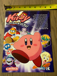 Nintendo Promo - Kirby Right Back At Ya Cartoon - 2 Sided Poster - Promotional