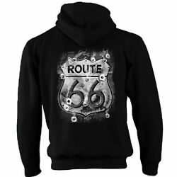 Hotrod 58 Hot Rod Zip Hoody Hoodie American Classic V8 Car Route 66 Sign Usa 46