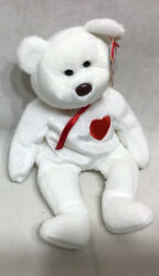 Ty Valenino Pe Pellets White With Red Heart 1994 Errors. Sg8