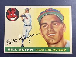 1955 Topps Bill Glynn 39 Mint Condition Cleveland Indians Franklin Nj