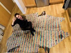Hand Crafted Real Cow Hide Rainbow Rug 155x240cm