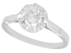 Antique French 0.53 Ct Diamond And Platinum Solitaire Engagement Ring